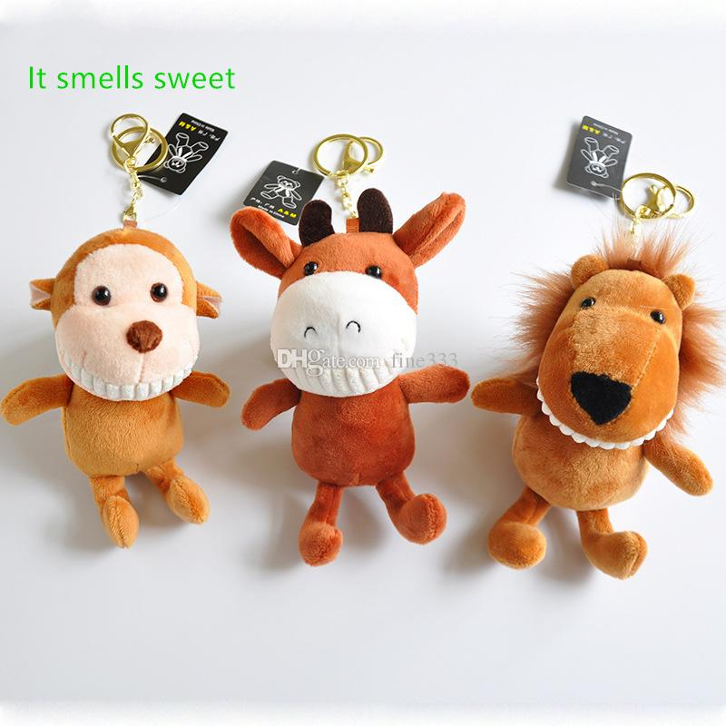 New Brand AYZ Scented Toothy Cow Lion Plush Toys Fragrance Monkey Plush Toy Key Ring Pendant Boutique Doll Machine