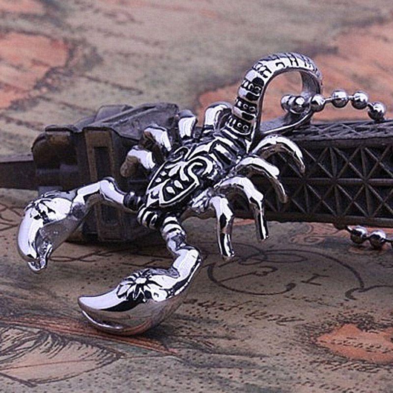 The Scorpion King Mens Collane Vintage Scorpion Pendenti animali Collana per le donne Moda catena di gioielli in pelle gioielli hip hop