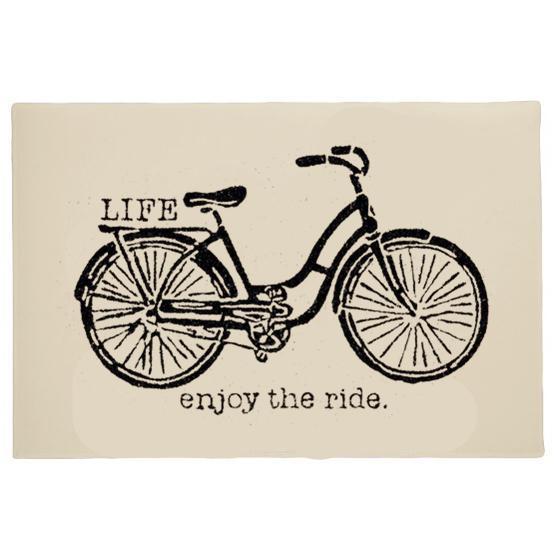 Retro Vintage Life Puerta de bicicleta Puerta de la vida Vida Disfruta del paseo Bicicleta antigua Alfombra tapete Alfombra Alfombra elegante y elegante 18 * 30