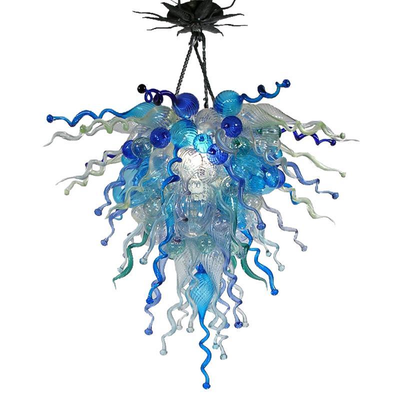 100٪ الفم في مهب زجاج مورانو الفن الحديث الثريا ضوء كيلي دايل نمط آرت ديكو زجاج مورانو الحديثة كريستال الثريا