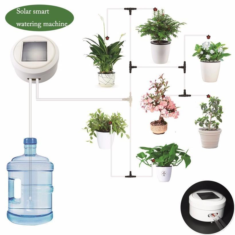 FB Intelligent garden automatic solar watering system energy charging water pump timer system succulents plant drip irrigation T200530