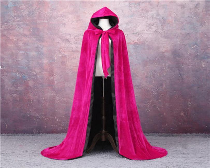 Elegante veludo ao ar livre casaco de casamento jaquetas vintage capa capas negras casaco nupcial acessórios de casamento com capuz