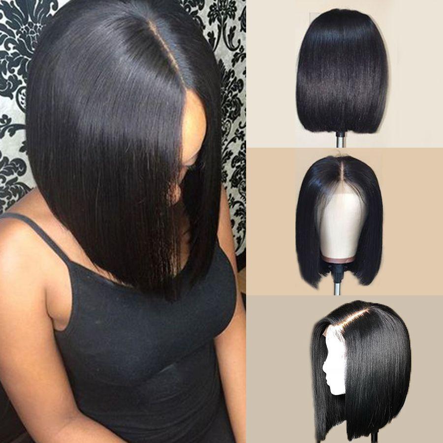 Cabelo Humano Bob rendas frente Wigs RXY 13x6 Bob peruca curta dianteira do laço do cabelo humano perucas para mulheres peruanas Hetero