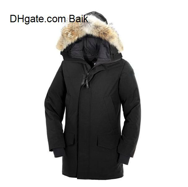 Winter Fourrure Down Parka Homme Jassen Chaquetas Outerwear Big Fur Hooded Fourrure Manteau Canada Down Jacket Coat Hiver Doudoune S-XXL