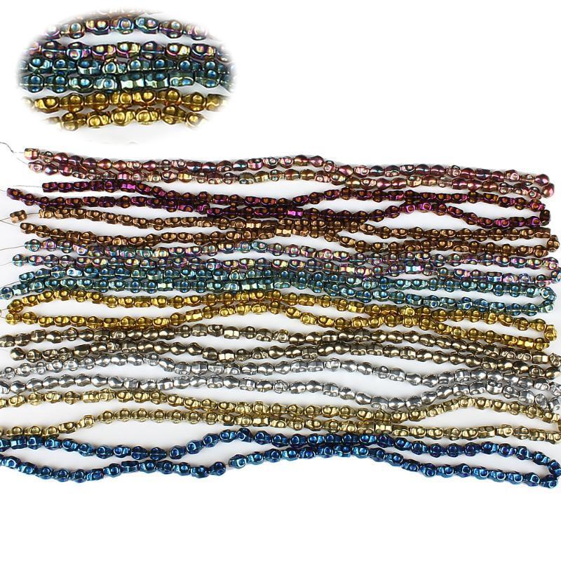 a forma di Taro pietra naturale ematite 6x8mm elettrolitico irregolare gioielli Beads di moda che fanno DIY gli accessori della collana bracciale