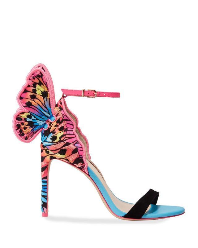 2020 Tatlı Kadın Sandalet Kelebek İnce Yüksek Topuklar Ayakkabı Kadın Yaz Lady Açık burun Parti Düğün Ayakkabı