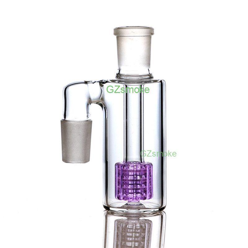 Collettore di cenere di vetro da 18 mm a 90 gradi per Bong AshCatcher per tubi di acqua Bong Tubo di vetro Accessori per fumatori Nido di uccello Raccoglitori di cenere Narghilè