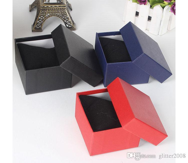 20PCS watches box paper Watch Box with Pillow 6 colors Paper Gift Boxes Case For Jewelry Box Watch Boxes Cases