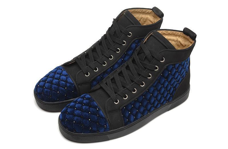 chaussures design international grand luxe haut Bangle diamant bleu hommes et femmes modèles sauvages de la personnalité de la mode verges C23