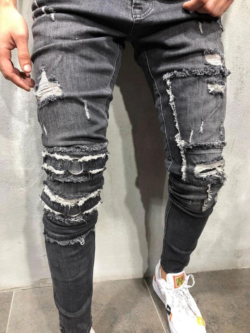 Lambrissés Hommes Pantalons Skinny Washed Hommes Crayon Pantalons hommes Vêtements Distrressed Hommes Designer Jeans Trous Mode