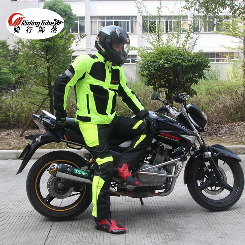 Riding tribe estate / inverno Maglia traspirante per moto Giacca protettiva per moto Giacche da moto riflettenti Racing da uomo Pantaloni in jersey