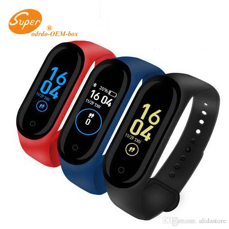 M4 Smart Bracelet Fitness Tracker Pedometer Watch Band Heart Rate Blood Pressure Monitor Smart Wristband For Android Cradle Design