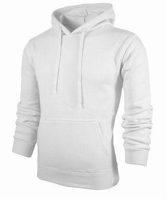 Gros Blanc Pulls À Capuche Plain 100% Polyester Hoodies Pas Cher Hommes Casual Slim Fit Manches Longues Couleur Bloc Sweat À Capuche Ypf201