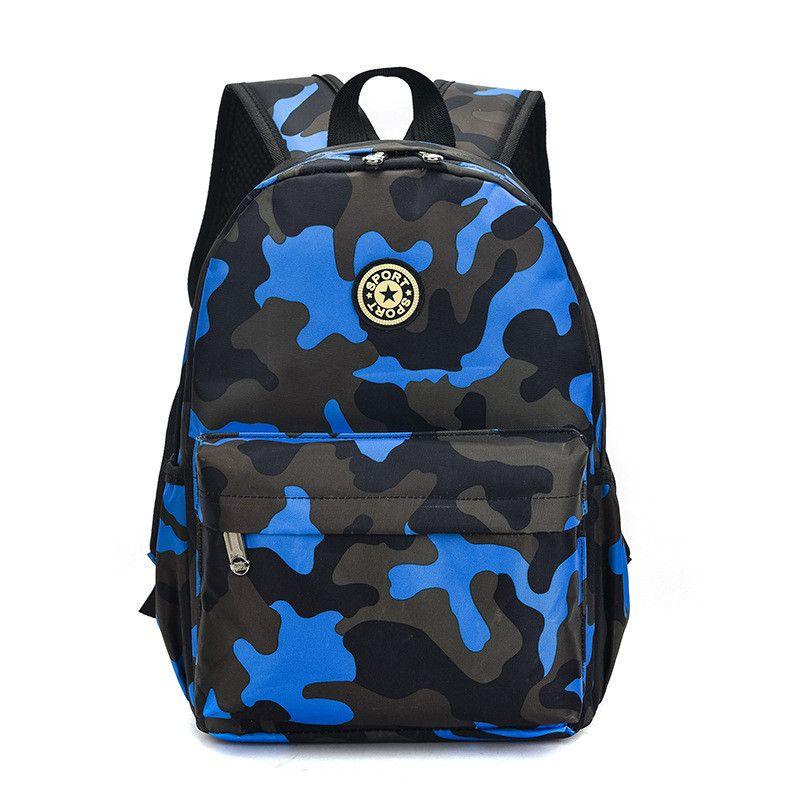 Transer Camouflage Print School Backpack Bags Travel Bag Student Bookbag for Men Women Teenage Girls Boys Green