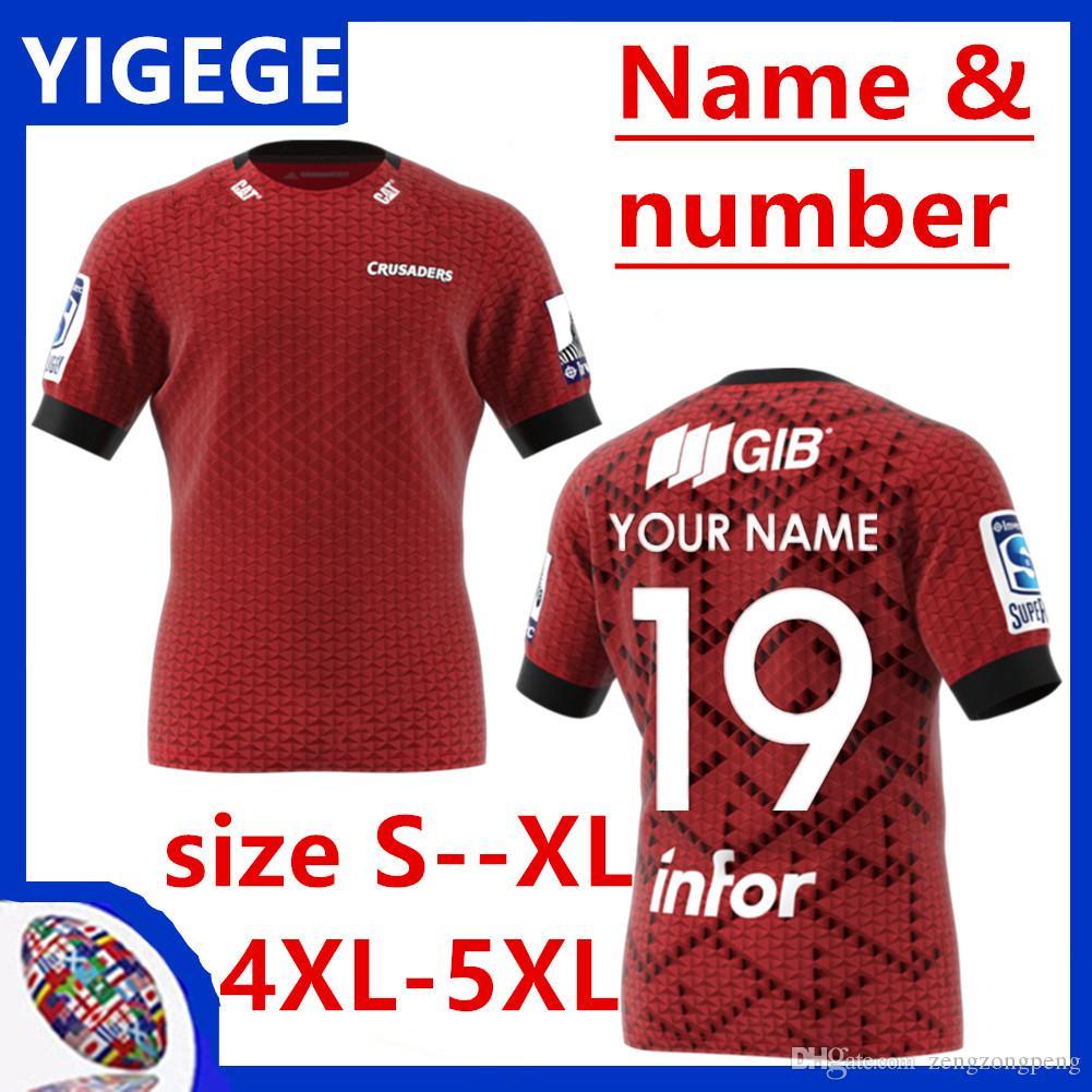 2020 Nova Zelândia Super Rugby Jersey Crusaders Jersey 2019/2020 Rugby League Adultos Mens cruzados Rugby camisas tamanho S - 5XL (pode imprimir)