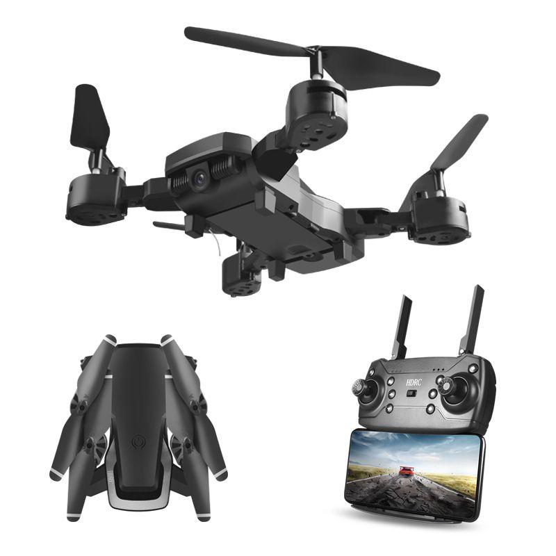 للطي UAV HD زاوية واسعة كاميرا التصوير الجوي واي فاي 1080P أربعة محور التحكم عن بعد للطائرات بدون طيار كوادكوبتر لعبة الطائرة بدون طيار مع كاميرا