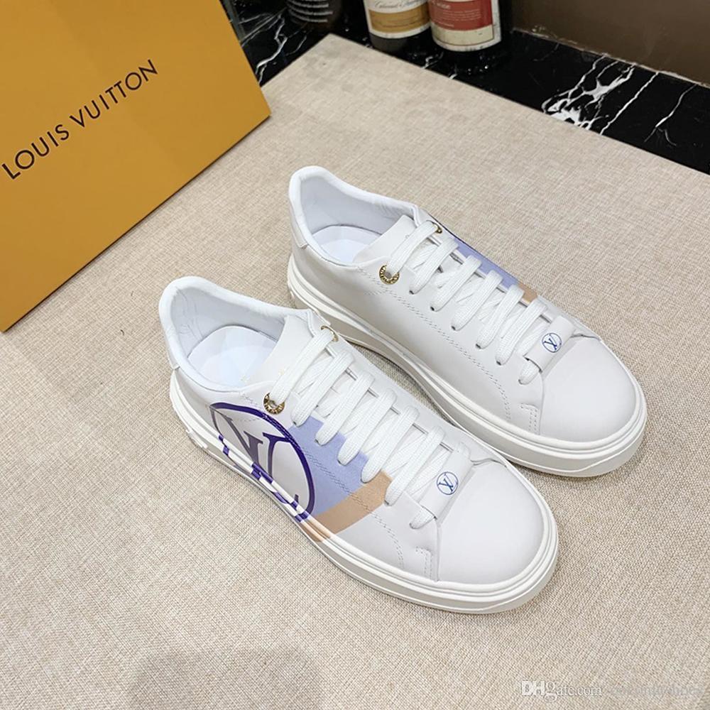 Yeni Moda Tasarımı Kadın Günlük Spor ayakkabı listeleyen Kişilik Yabani Baskılı deseni 35-42 0128 Günlük Spor gündelik ayakkabı boyutu Womens