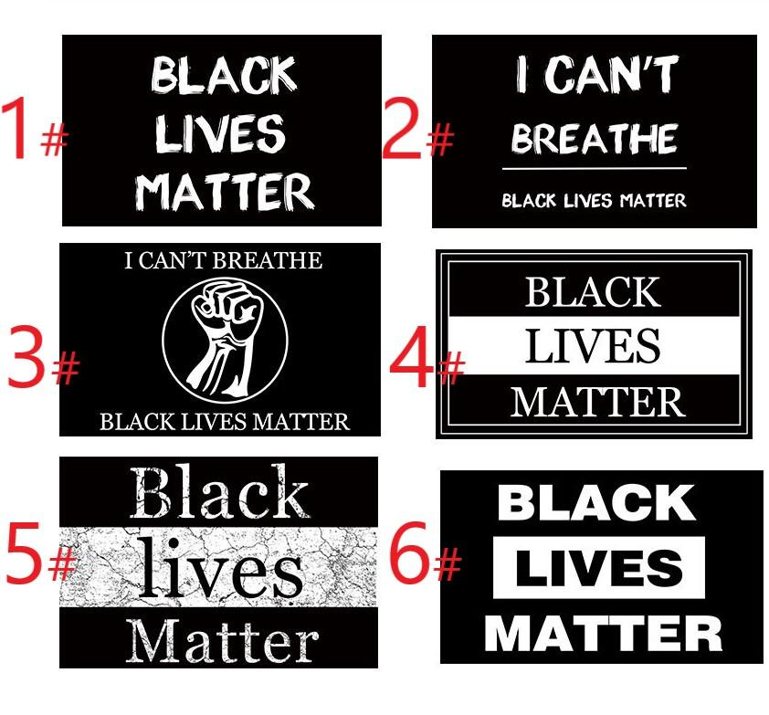 6 modèles de FT Outdoor Banner- Lives noir Matter Flag House Garden Home Decor Tous les hommes sont égaux I Can not Breathe slogan de protestation