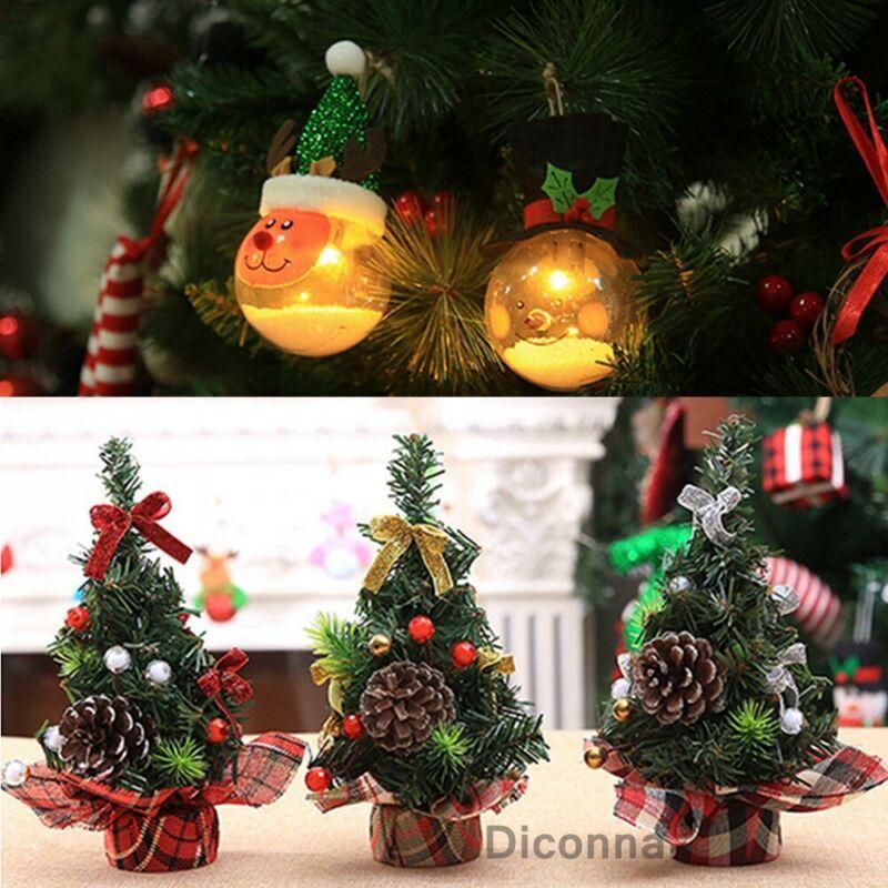 Newly Mini Christmas Tree Desk Table Decor Festival Party Ornaments Xmas Gift~