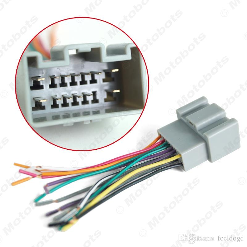 Car OEM Audio Stereo Wiring Harness Adapter For Chevrolet Sail(2010~present) Install Aftermarket CD/DVD Stereo #2004