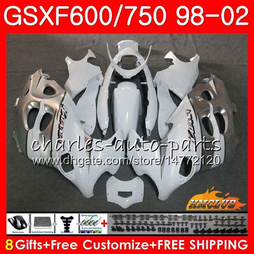Corpo per Suzuki Katana GSX600F GSXF750 GREY BIANCO 1998 1999 2000 2001 2002 2HC.35 GSXF 750 600 GSX750F GSXF600 98 99 00 01 02 Kit carenatura
