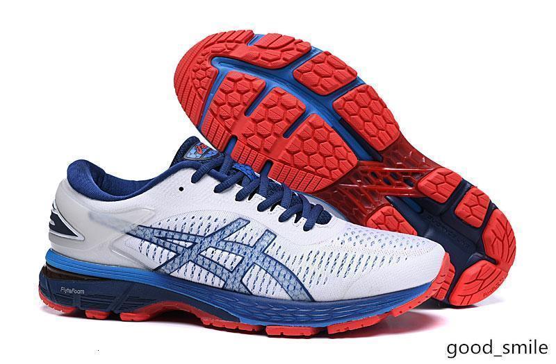 GEL-KAYANO 25 Running Shoes for Men Lightweight Preto Verde Branco instrutor de esportes sapatilhas do desenhista Atlético Jogging sapatos 40-45