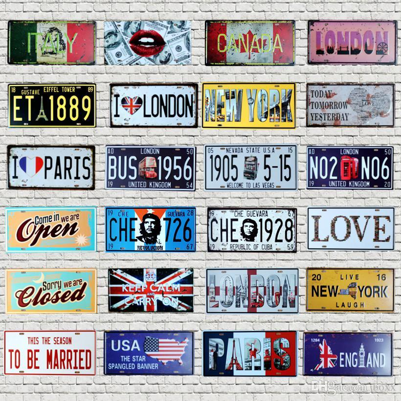 American Biker Wholesale Novelty License Plate Bar Wall Decor