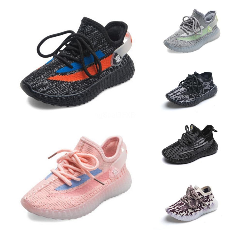Детские Детская обувь Зебра Kanye West V2 кроссовки Black White Static Светоотражающие Beluga 2.0 кроссовки Clay Мальчик Девочка малышей спортивный тренер # 881