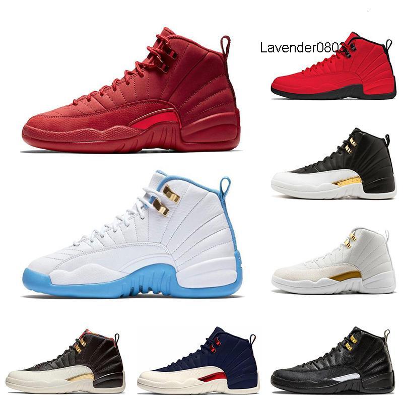 2020 12 12s Erkek Basketbol Ayakkabı Vinterize Gym Kırmızı Koleji Donanma Wings Siyah CNY Bulls Üniversitesi Mavi erkekler Sport Sneakers Boyut 7-13