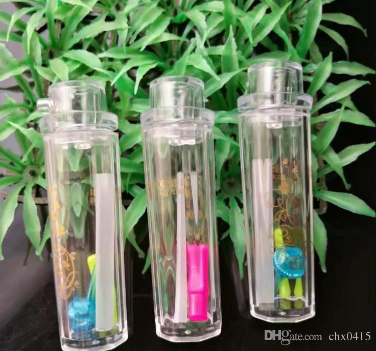 Neuer Acrylminihandgriff Topf, Großhandel Glas Bongs, Glas Wasserpfeife, Rauchrohrzubehör