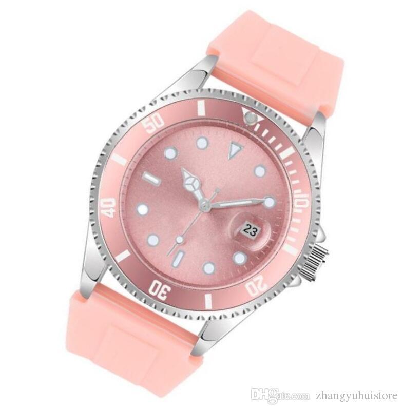Hohe Qualität Berühmte Klassische Silikon Uhr Männer Frauen Uhren Liebhaber Mode Einfache Herren Frauen Uhren Uhr Saat Relogio Reloj