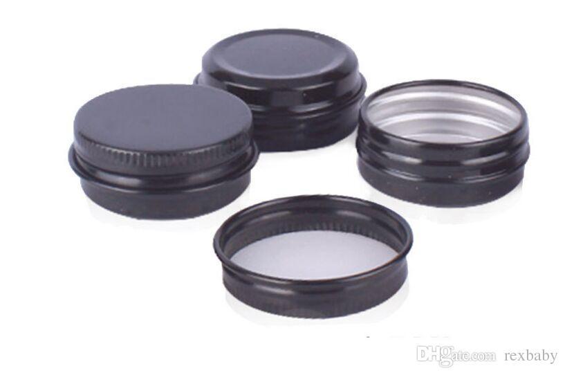 15g 작은 검은 색 알루미늄 병 15ML 빈 립 밤 화장품 아이 크림 병 여행 로션 틴 컨테이너