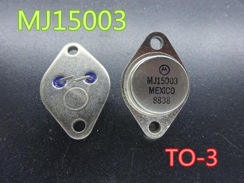 5 pçs / lote Alta potência Três tubo transistor MJ15003 to-3 Gold Seal Ferro Power
