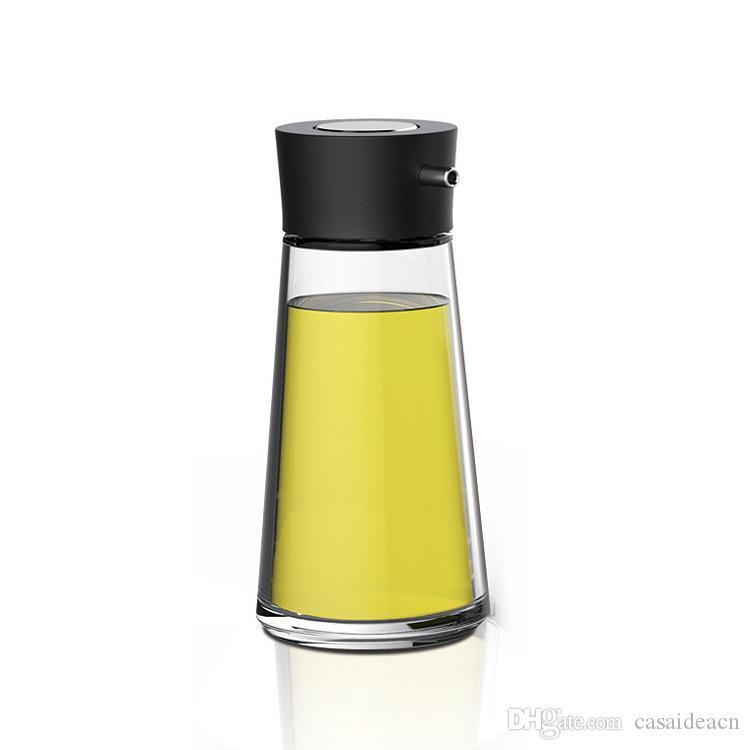 5,5 унция бессвинцового стекло масло и уксус кнопочного Диспенсер Dripless стекло соевого соус бутылочка Пот Черный Белый Оранжевый Зеленый