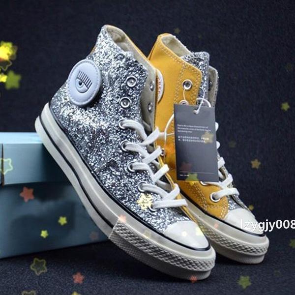 Yenilgisiz Chuck 70 Öküz Tuval Ayakkabı Chiara Ferragni Erkek tasarımcı Kadınlar Casual Sneakers moda kaykay sporu eğitici parlayan Büyük gözler