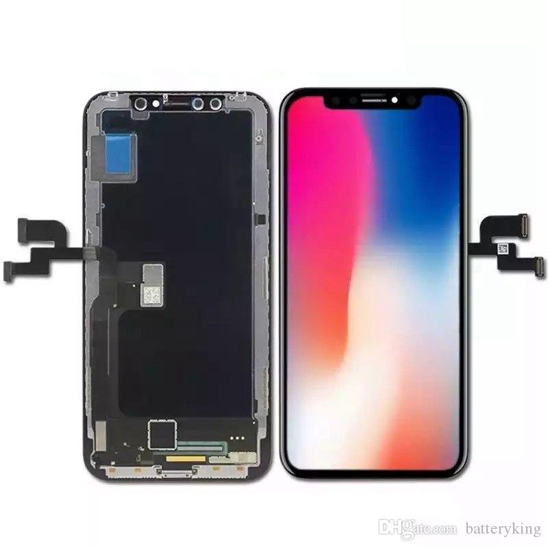 Chegada nova cor perfeita OEM OLED LCD para iPhone x Sem Dead Pixel Display para iPhone X substituição LCD com frete grátis