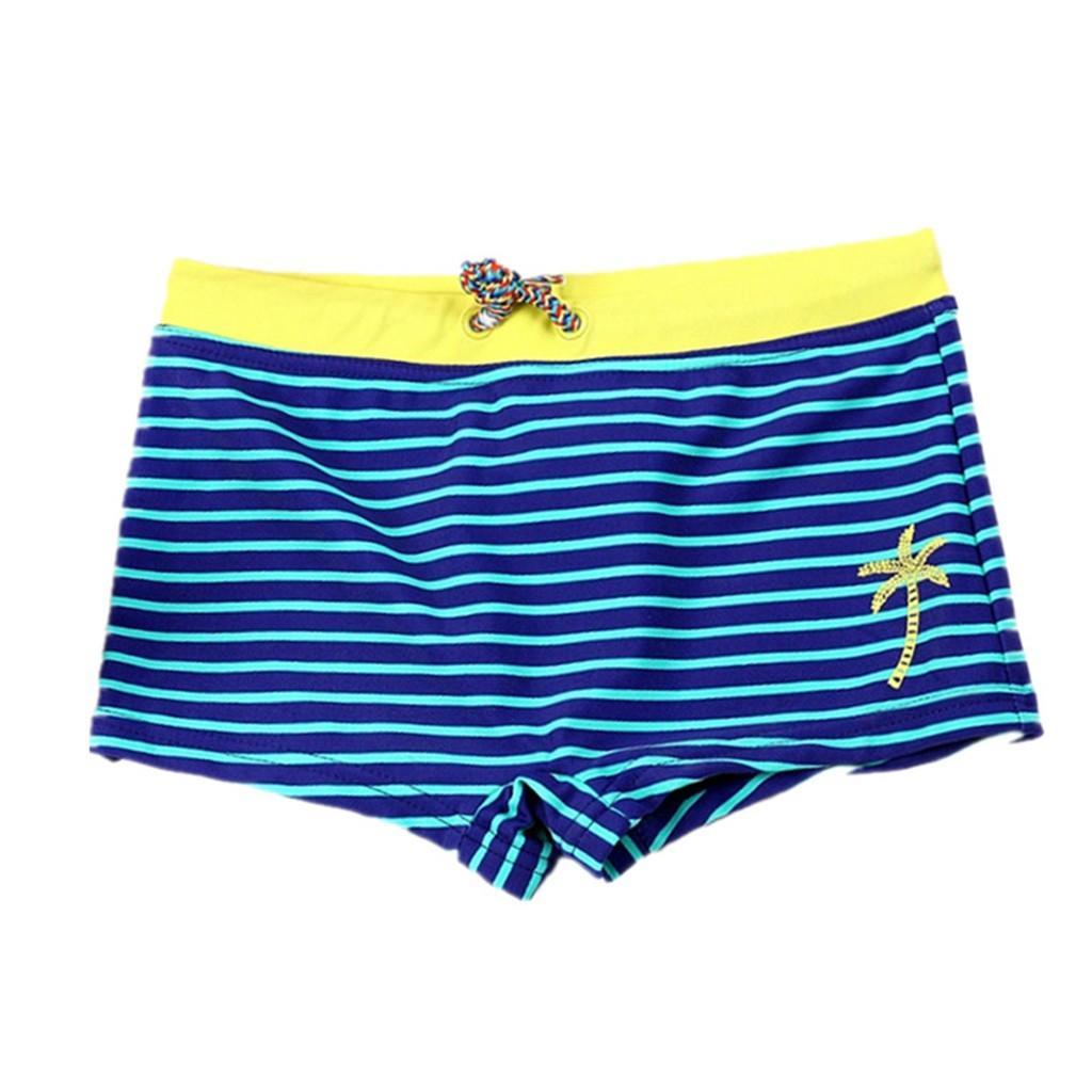 남자 트렁크에서 아이를위한 수영 줄기 2019 Kid Children Boys Striped Stretch Beach Swimsuit Swimwear Pants Shorts Clothes H