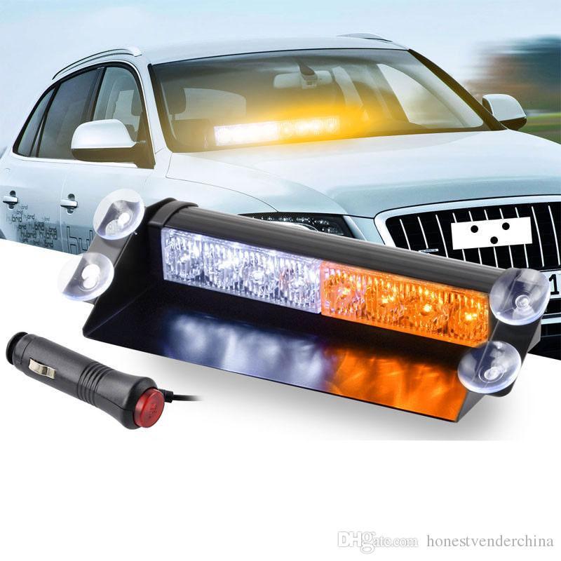 8 LED per auto Dash stroboscopiche luci flash Polizia Lights Flash blu / rosso d'avvertimento di emergenza lampada della luce LED