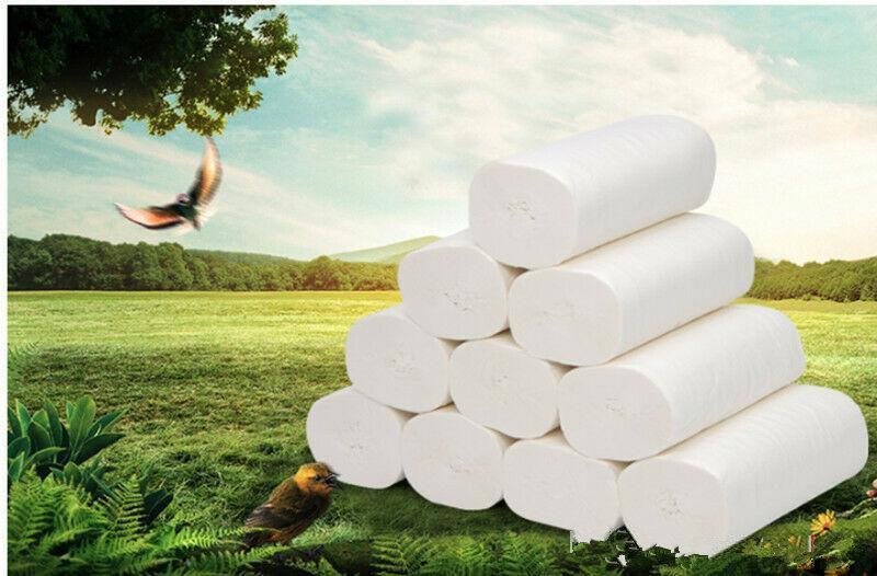 24h DHL-freies Verschiffen. Standard 3-lagige Toilettenpapier Bulk Brötchen Bad Tissue Haushalt Badezimmer Reinigung Weiche Papiertücher Tücher Wipes FS9501