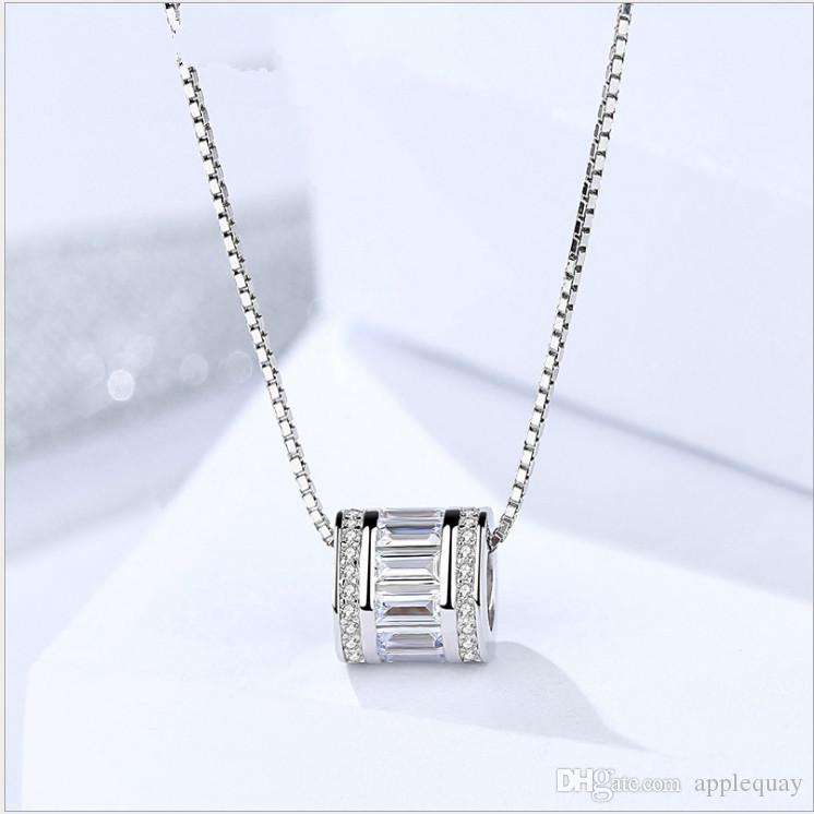 Pingentes de prata esterlina 925 colares de prata senhoras jóias banhado a platina fabricantes de platina esporte mulher charme clássico 9x9mm 6 pcs