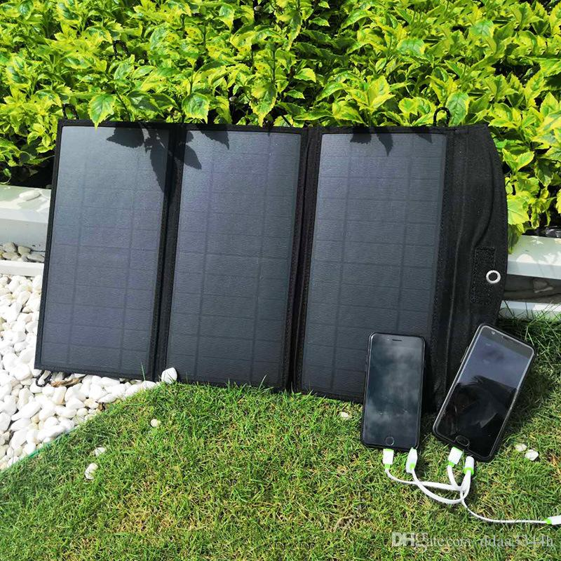 Solarladegerät 28W sunpower Dual USB Port Wasserdichte Faltbare Solarzellen Panel für Smartphones Tablets Camping Reisen