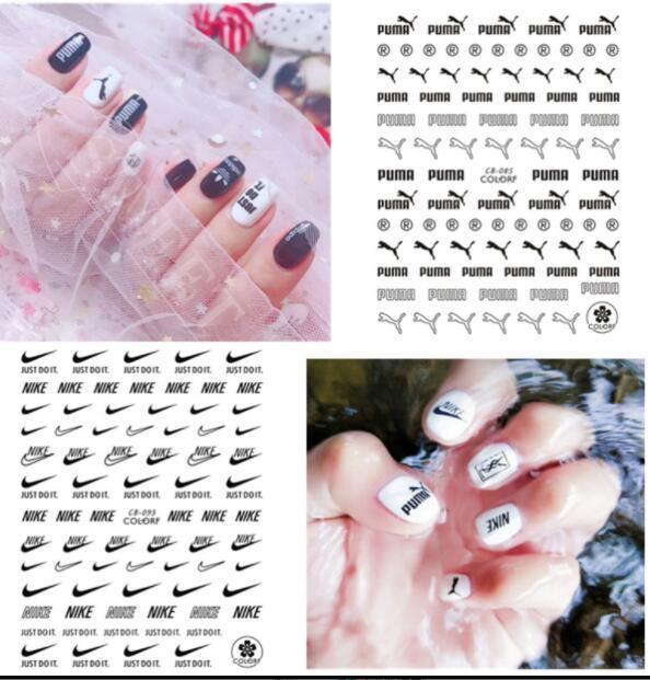 Ногтей искусство украшения наклейки Спорт наклейки на ногти самоклеющиеся DIY наклейки советы логотип ногтей наклейки наклейки LJJK1643