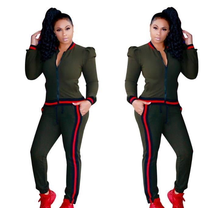 Código Código 2018 Amazon Standard Europa y ropa deportiva de la pierna apretada de ocio de moda caliente de América ropa atractiva dos piezas