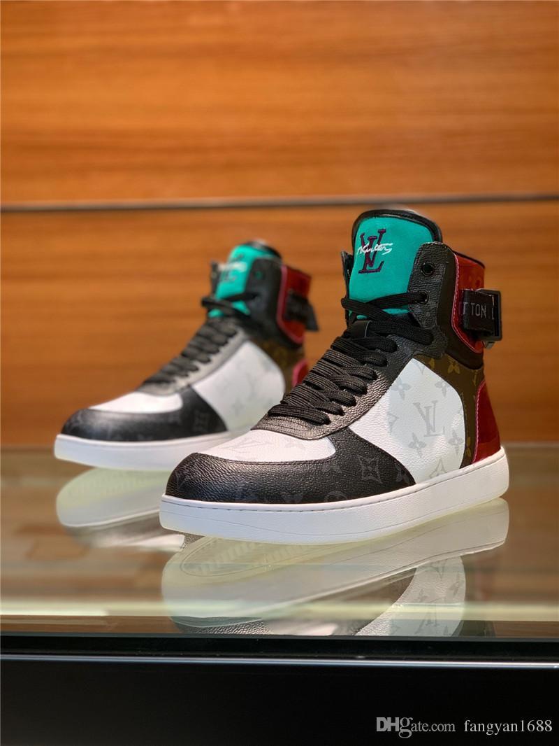 612f5dc789 ... De gama alta de lujo zapatillas de deporte de ocio de alta top hombres  exclusivos zapatos ...