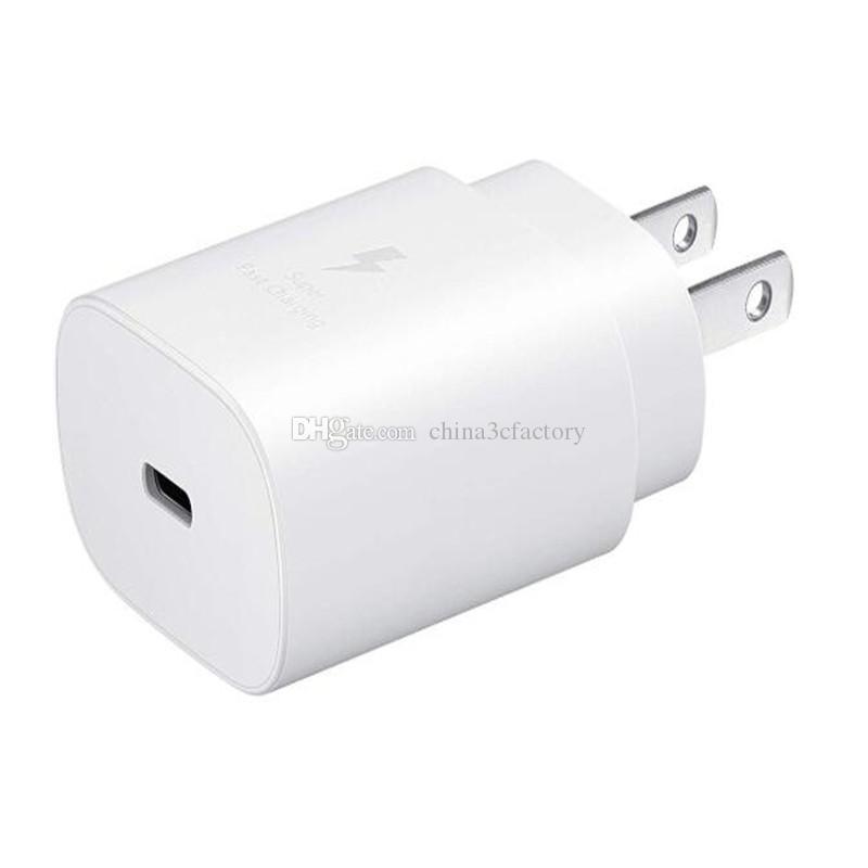 для Samsung Примечание 10 супер быстрое зарядное устройство 25Вт Тип C США ЕС стены штепсельная вилка ЕР-TA800 Примечание 10 плюс