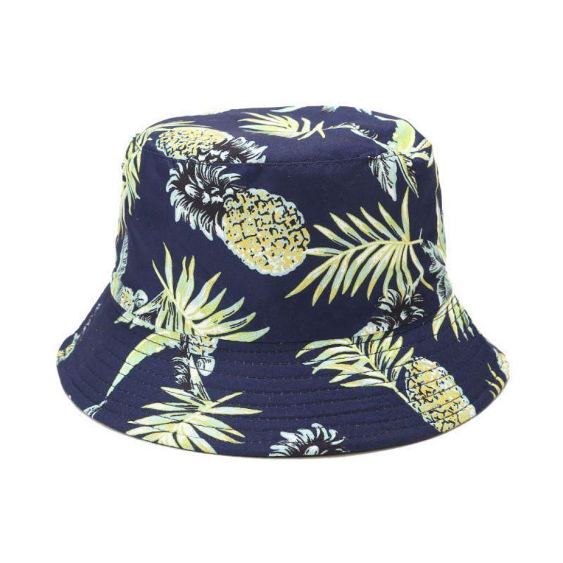 Heißer Verkaufs-Bucket Hat Unisex Adult Czapki Frauen Männer Obst Drucken Muts Fischer-Hut Casquette Sunscreen Im Freien Cap Sombrero