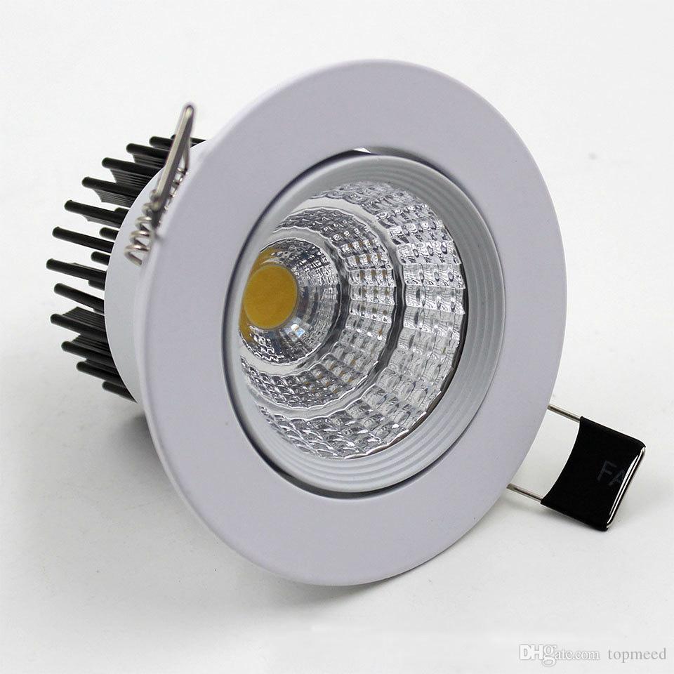 COB Led Downlight 9W 12W 15W 18W 21W Kısılabilir / Kısılabilir Ev aydınlatması Sıcak Soğuk Beyaz LED Tavan lambaları Güç Sürücüleri ile AC85-265V