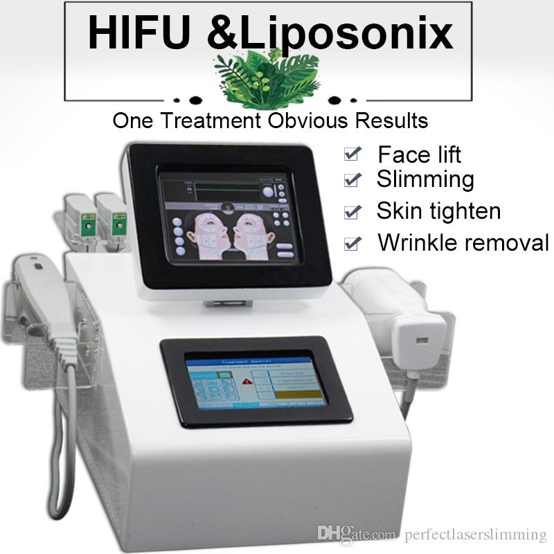 2019 L'ultima macchina portatile di perdita di peso di Liposonix che dimagrisce Rimozione rapida del grasso più efficace attrezzatura di bellezza di lifting del fronte di lipo hifu