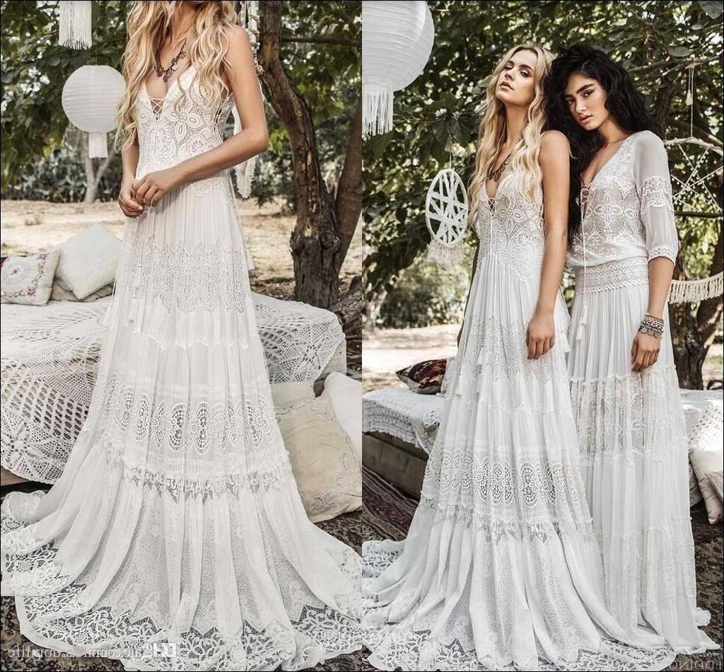Bohemian Hippie Wedding Dress Off 76 Best Deals Online