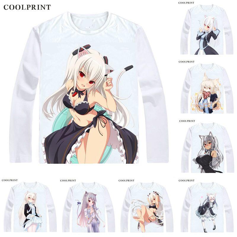Nora Cat Channel VR Girl NoraCat T Shirt Virtual Youtuber Vtuber AI Custom T-shirt Casual Vintage Print Long Sleeve TShirts